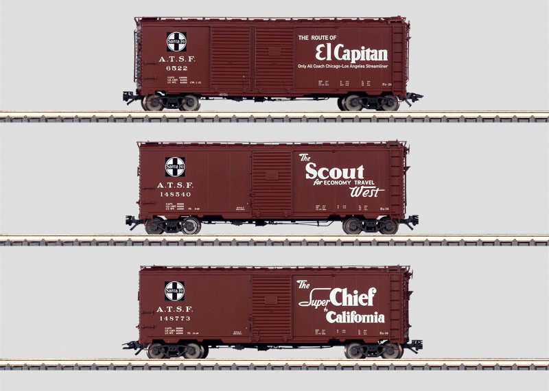 Set - 3 Boxcars.