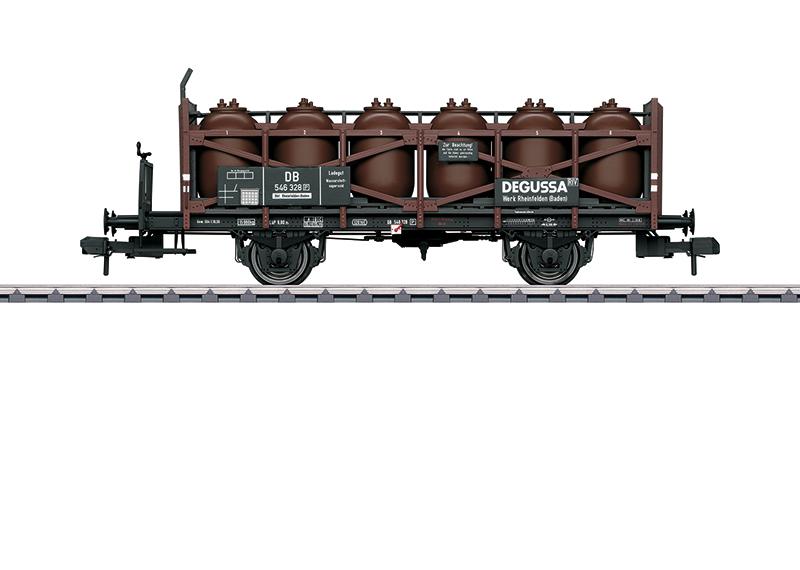 """Wagon-jarres pour le transport d'acide """"Degussa"""""""