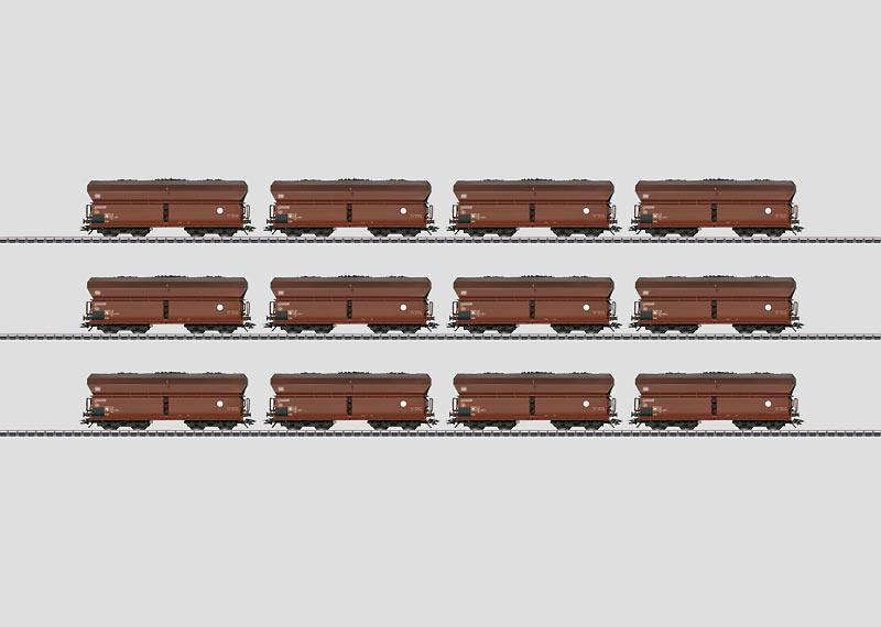 Display mit 12 Selbstentladewagen Fad 167.