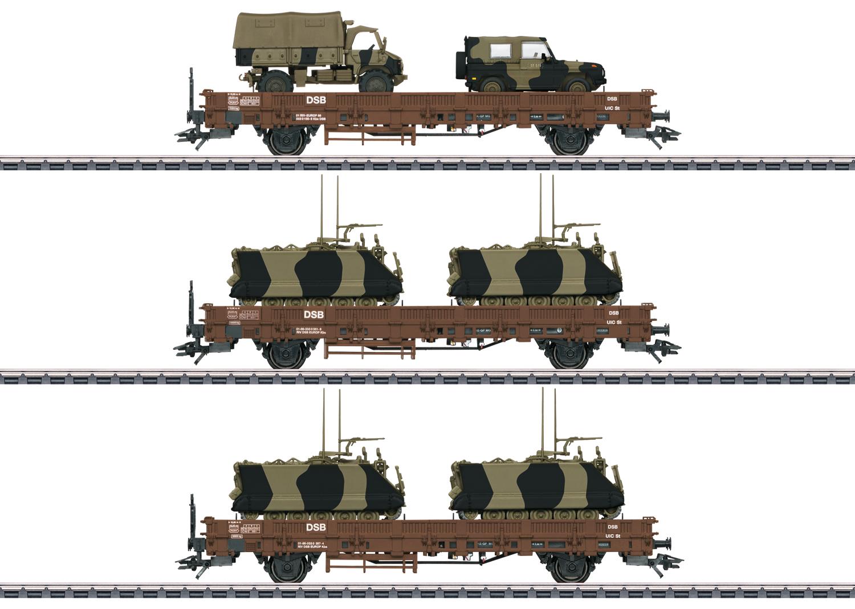 """Military Transport"" Low Side Car Set"