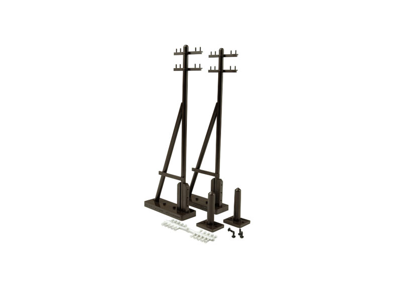 Telegraph Poles with Supports, 2 pieces