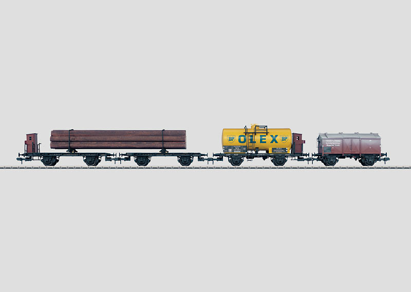 Set with 3 German State Railroad Freight Cars.