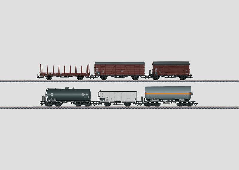 Güterwagen-Set.