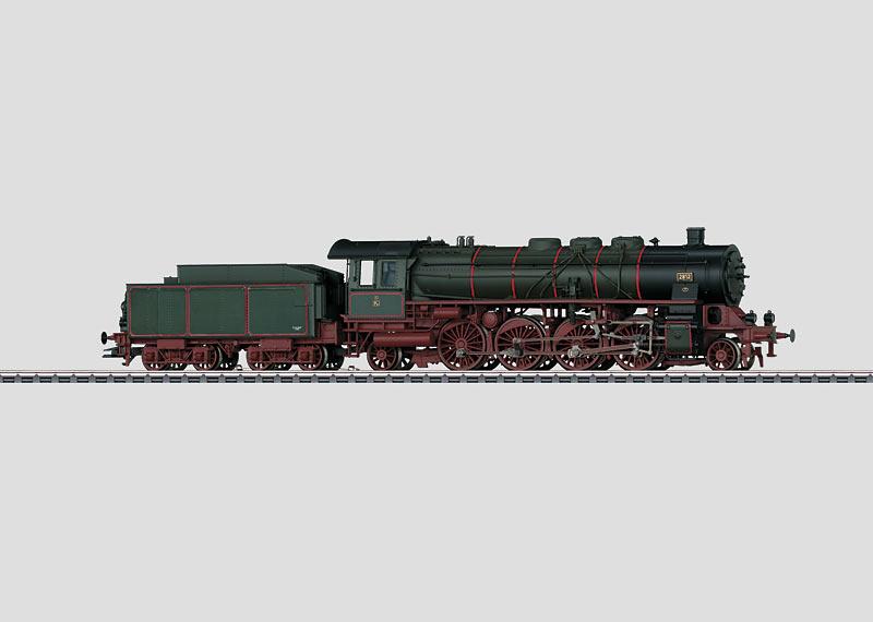 Steam Passenger Locomotive with a Tender.