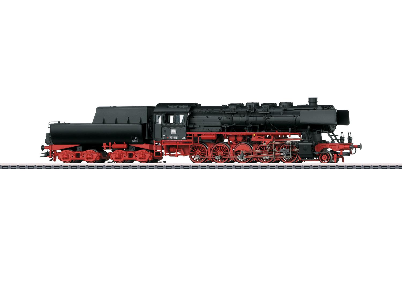 Güterzug-Dampflokomotive BR 50 mit Wannentender