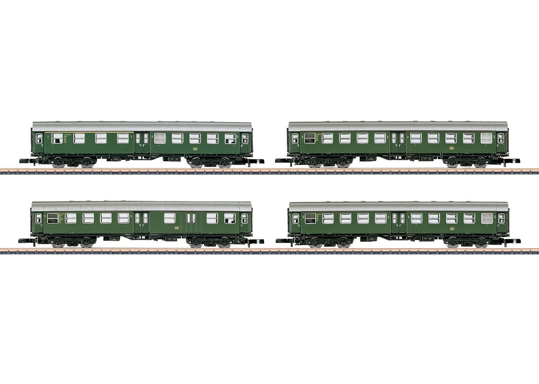 Wagenset Nahverkehrszug der DB bestehend aus 4 Stück 4-a Umbauwagen.