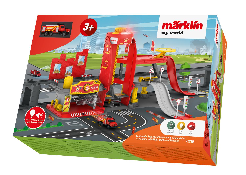 Märklin my world - Feuerwehr Station mit Licht- und Soundfunktion