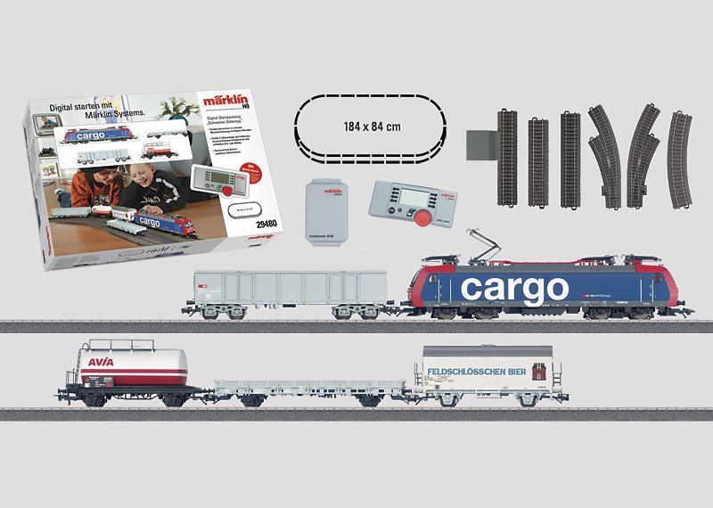 """""""Swiss Freight Train"""" Digital Starter Set. 230 Volts."""
