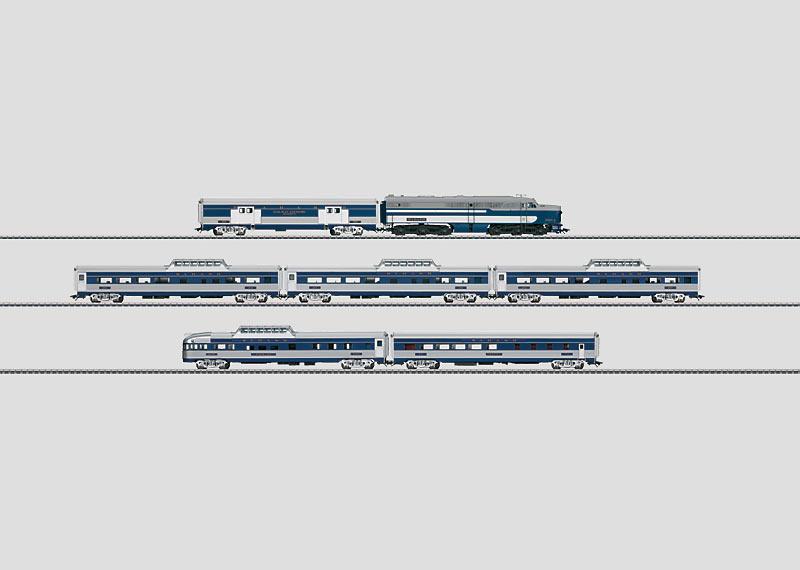 """""""Blue Bird"""" Passenger Train."""