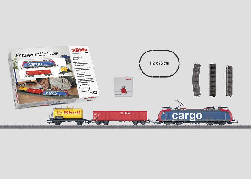 """Startpackung """"Europa"""" 230 Volt, mit C-Gleis-Oval und Transformator."""