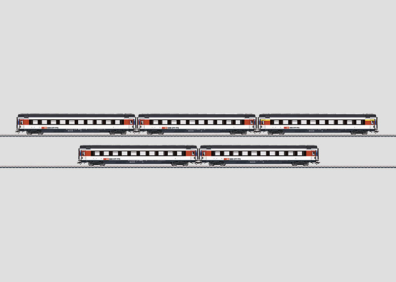 InterCity Express Train Passenger Car Set