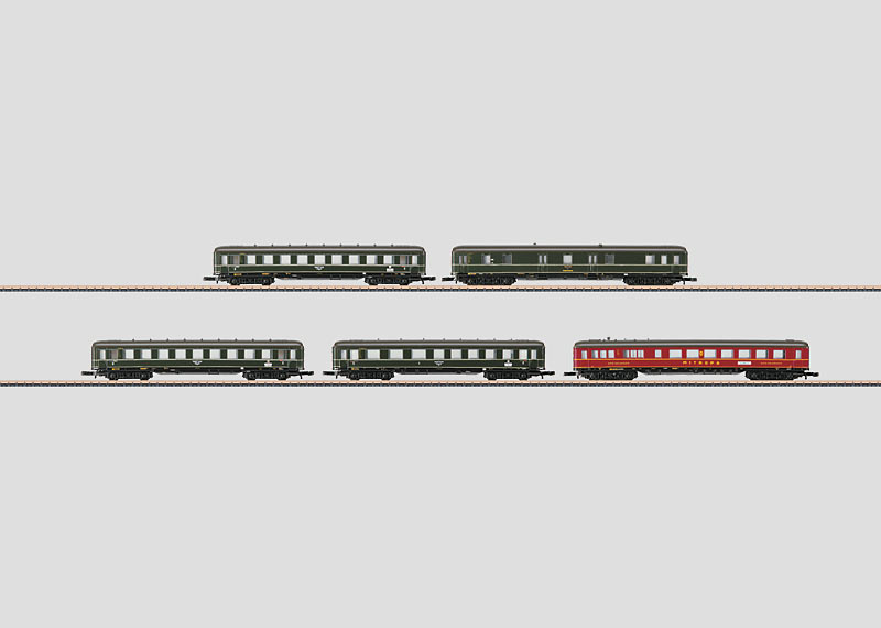 Set with 5 Express Train Passenger Cars.