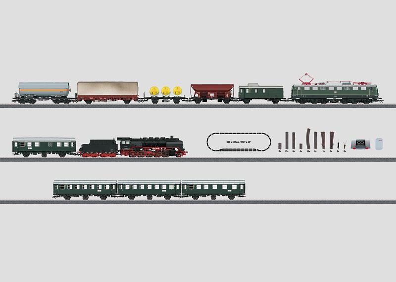 """German Federal Railroad"" Digital Mega Starter Set. 230 Volts."