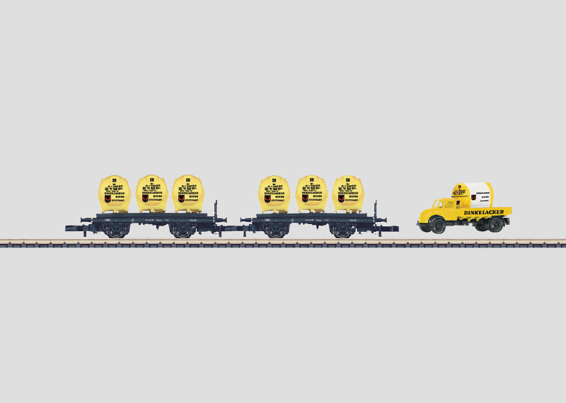 """""""Dinkelacker"""" Container Transport Car Set."""
