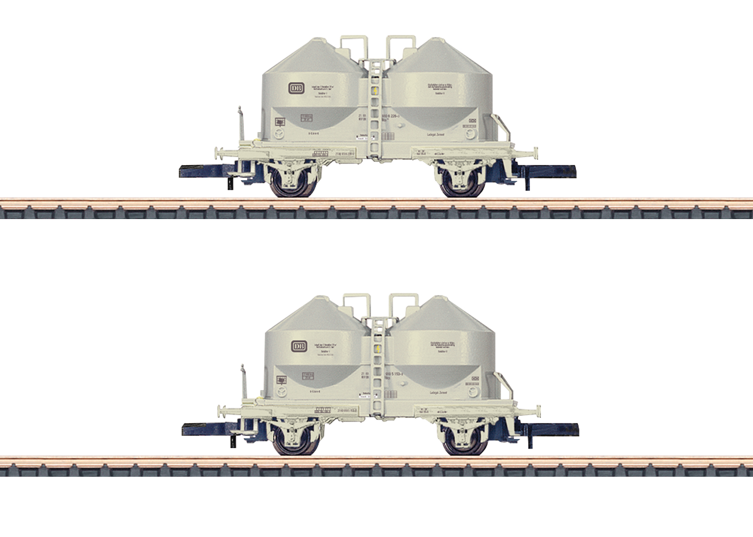 Powdered Freight Silo Car Set
