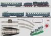 Startpackung mit Bayerischem Personenzug, Bausatz Schloss Neuschwanstein, Gleisanlage und Fahrgerät 230 Volt.