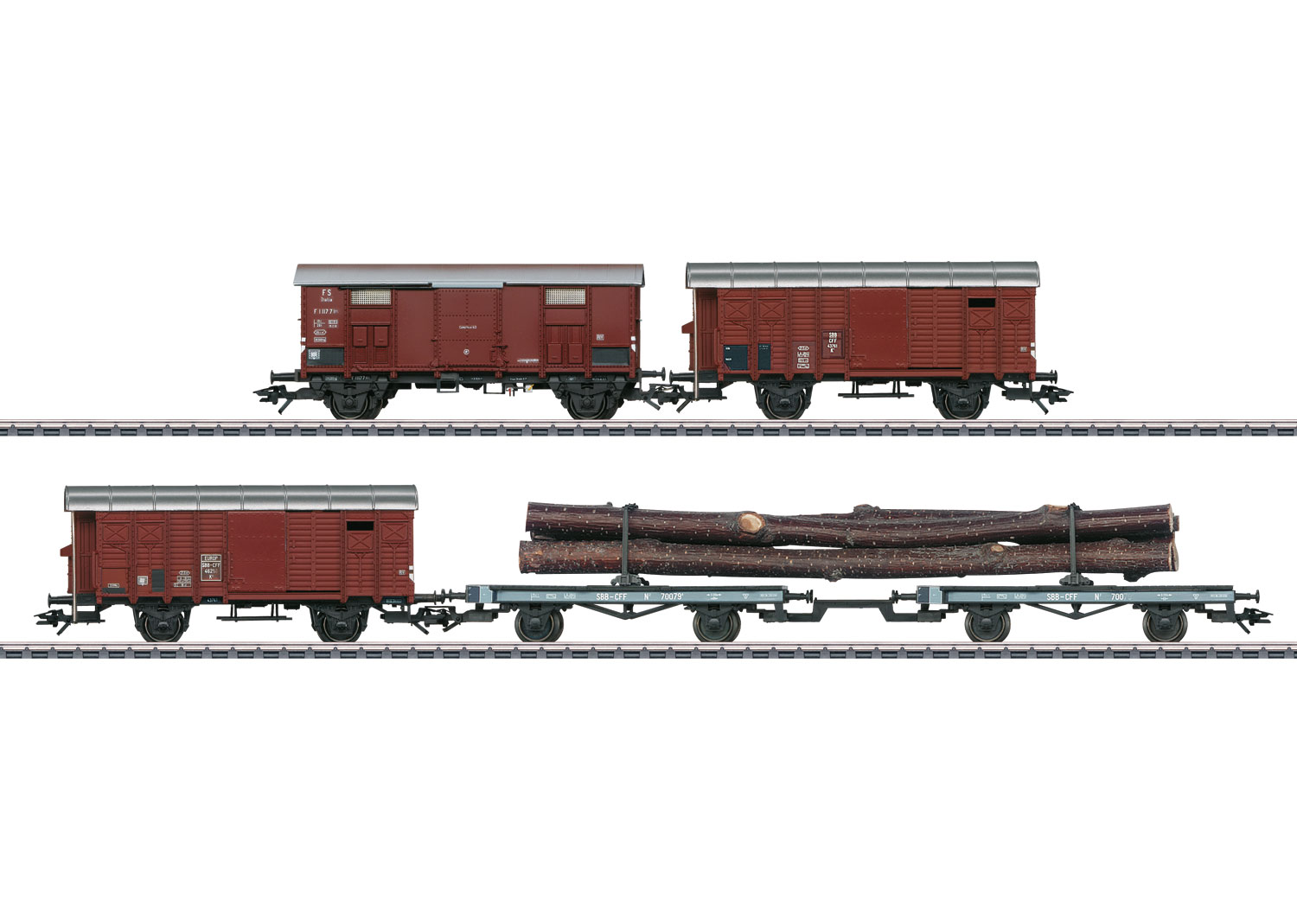 Freight Car Set for the Class C 5/6 Steam Locomotive