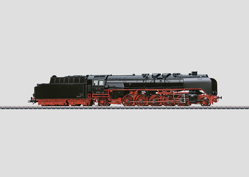 Heavy Steam Locomotive with a Tender.
