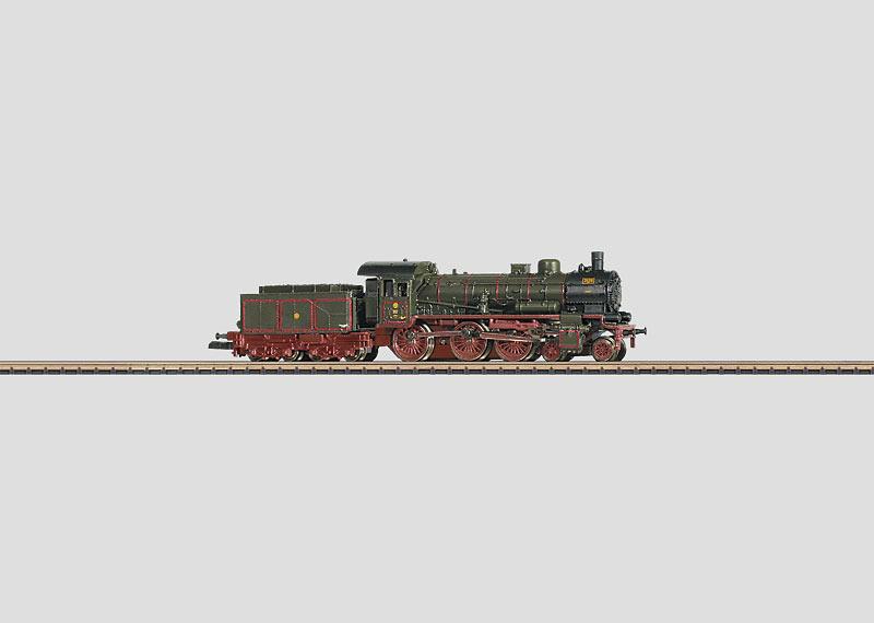 Personenzug-Schlepptenderlokomotive.