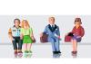 Figuren-Set Reisende sitzend