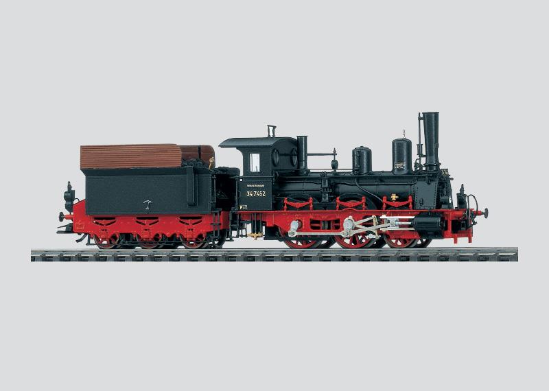 Oldtimer-Lokomotive mit Schlepptender
