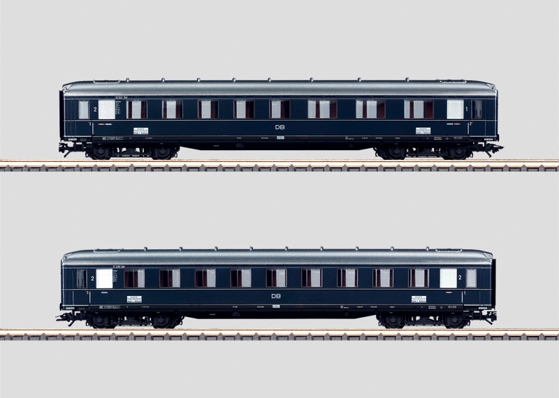 "Set - 2 ""Rheingold"" Express Train Passenger Cars."