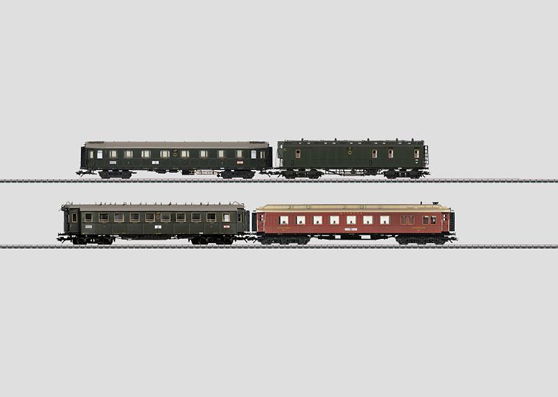 """""""D 119"""" Express Train Passenger Car Set."""