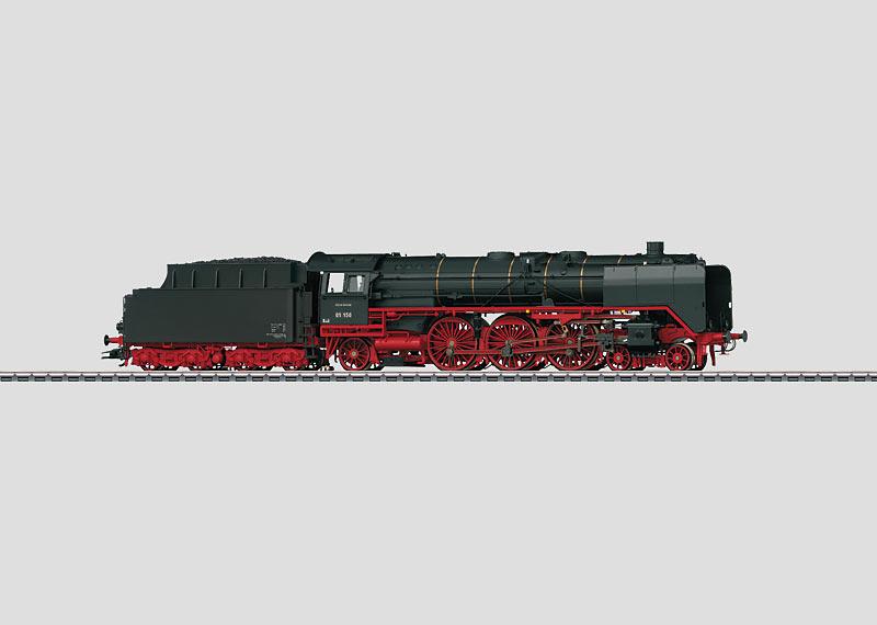 Schnellzug-Dampflokomotive mit Schlepptender.