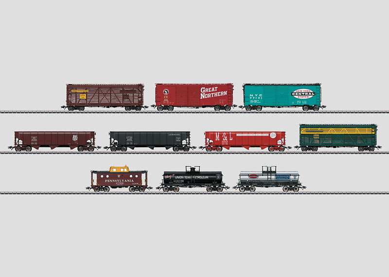 American Freight Car Set.