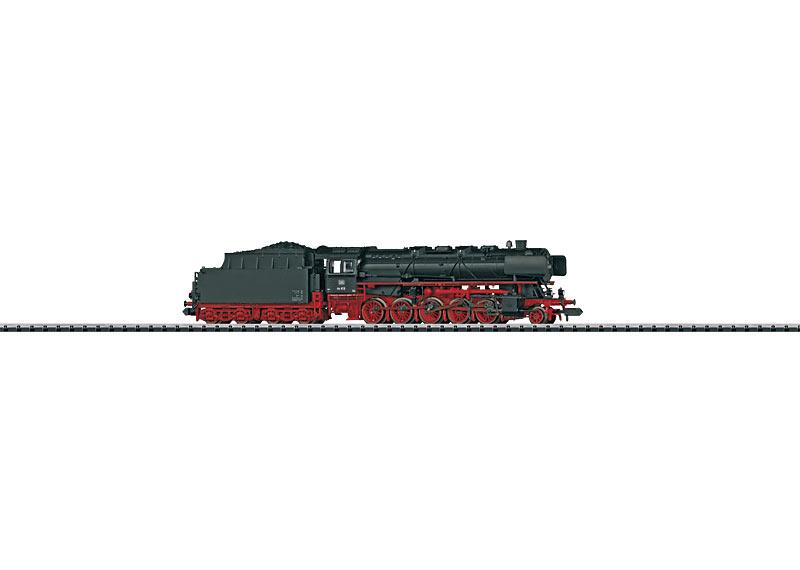 Güterzug-Schlepptenderlokomotive mit Kohletender.
