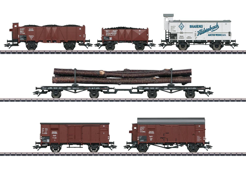 Güterwagen-Set zur Dampflokomotive BR 95