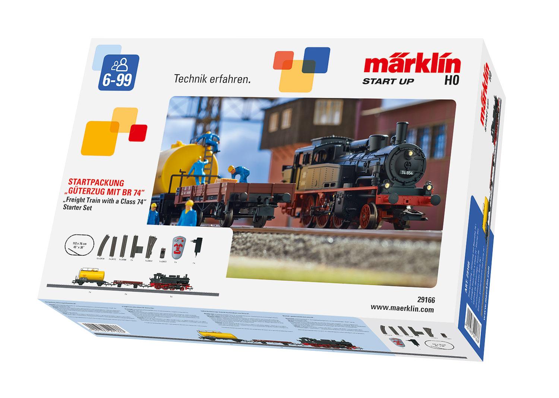 """Märklin Start up - Startpackung """"Güterzug mit Baureihe 74"""". 230 Volt"""
