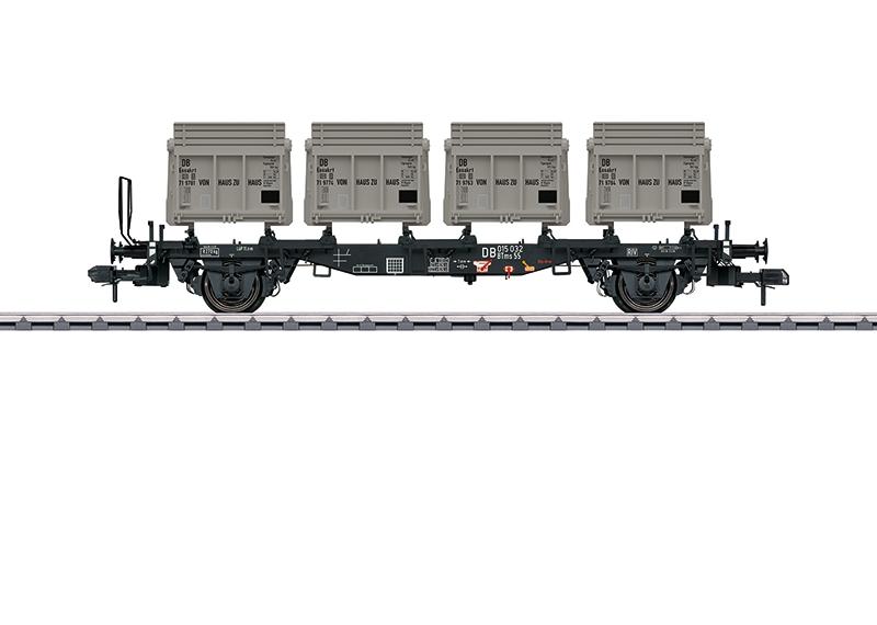 Wagon porte-conteneurs BTms 55