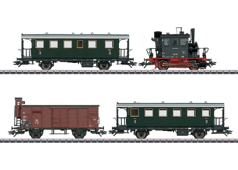Train voyageurs avec wagons marchandises (PmG)