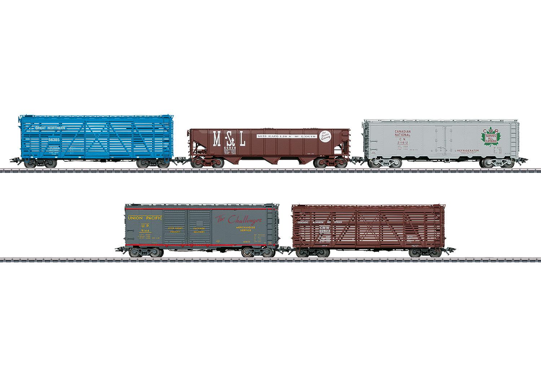 Amerikanisches Güterwagenset