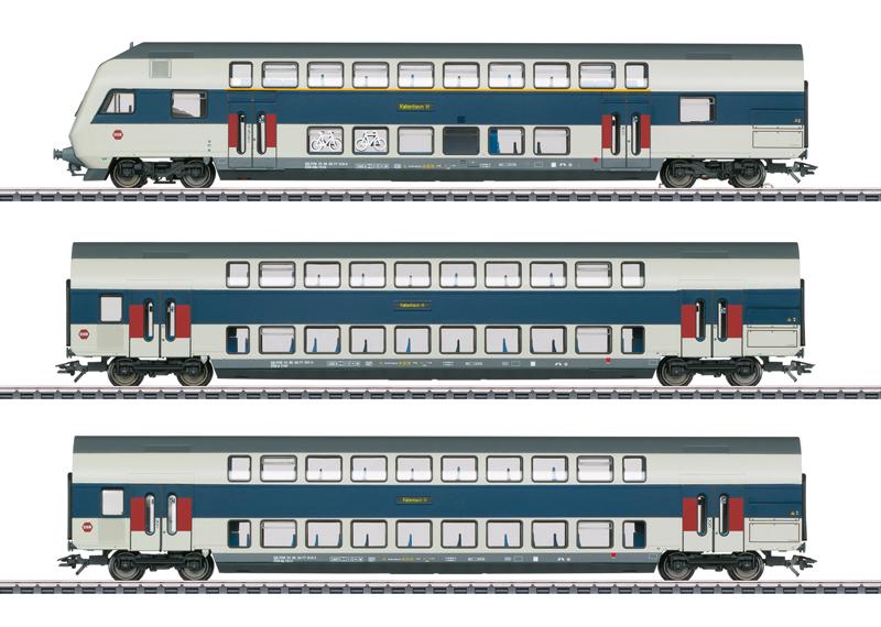 """Set dubbeldeksrijtuigen """"trein voor regionaal verkeer Kopenhagen"""""""