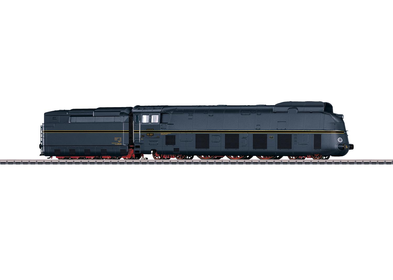 Stromlinien-Schnellzugdampflokomotive mit Schlepptender BR 05