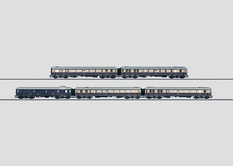 """Rheingold"" Express Train Passenger Car Set."