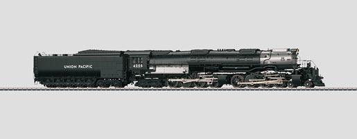 Locomotive à vapeur avec tender séparé.