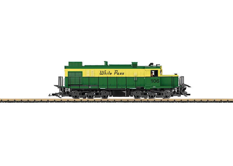 White Pass & Yukon Alco Diesel Locomotive with Sound
