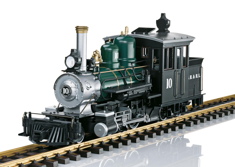 Forney Dampflok der Sandy River & Rangeley Lakes Railroad