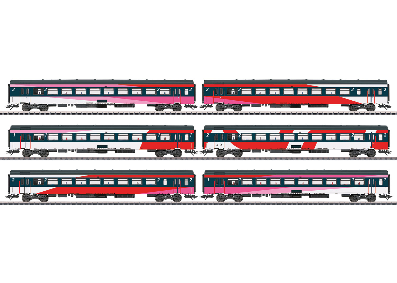 ICRm IC Express Train Passenger Car Set.