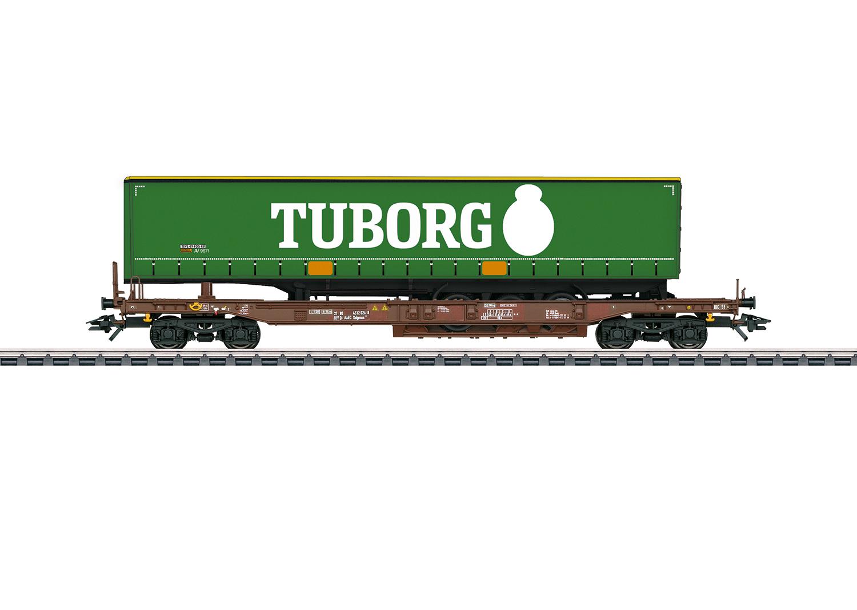 """Tuborg"" Deep Well Flat Car"