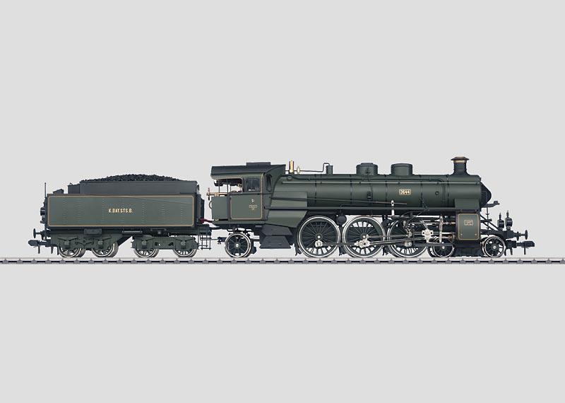Schlepptenderlokomotive mit echtem Dampfantrieb.