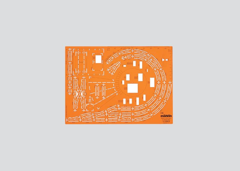 Gleisplan-Zeichenschablone für C-Gleise.
