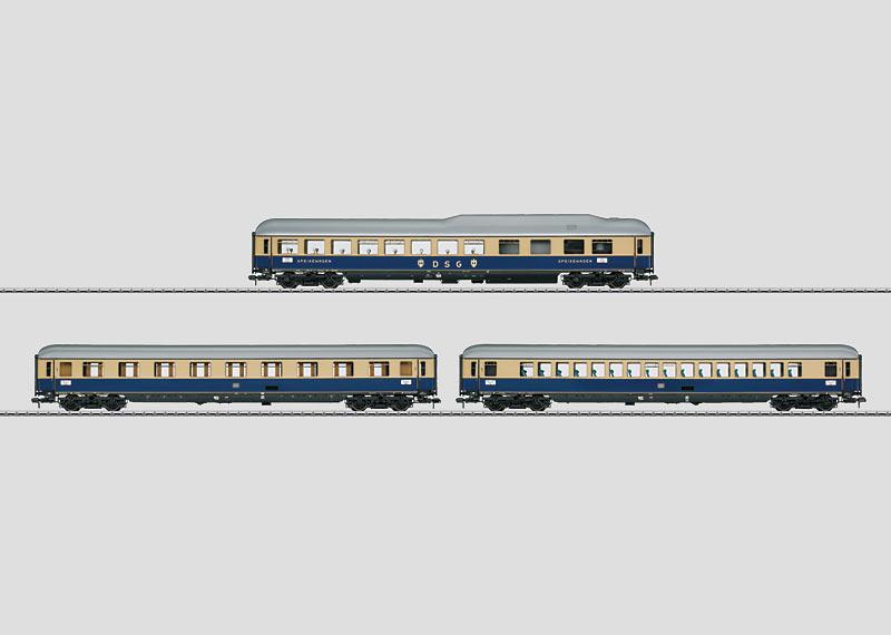 """Rheingold 1962"" Express Train Passenger Car Set."