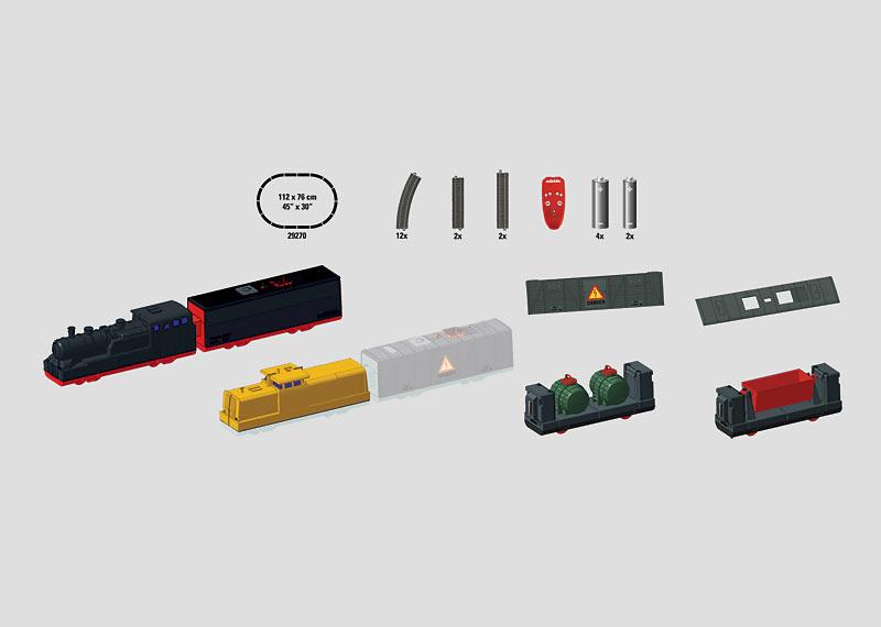 "Startset ""Goederentrein-bouwpakket"". (batterij)"