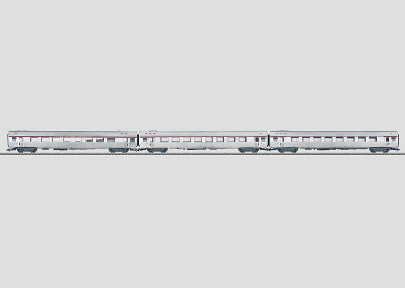 Set with 3 Paris-Brussels-Amsterdam TEE Express Train Passenger Cars.