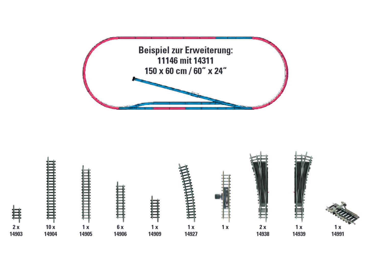 Gleis-Ergänzungs-Set H1