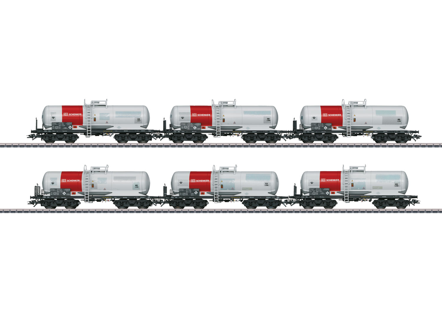 Set with 6 Tank Cars
